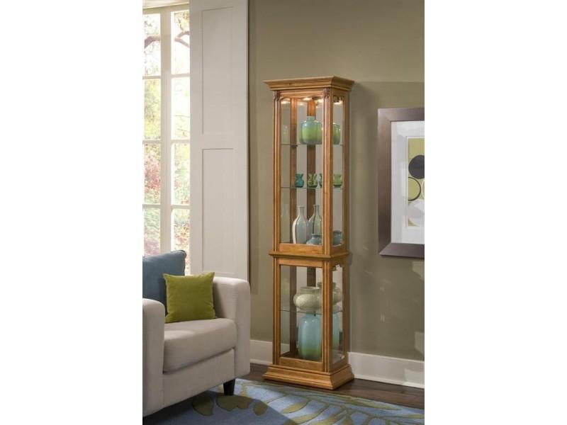 Vaisselier Etroit: Estate Oak Narrow Curio Cabinet