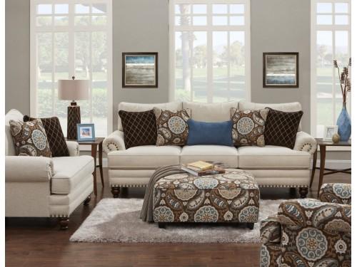 Anna White Linen Sofa Collection