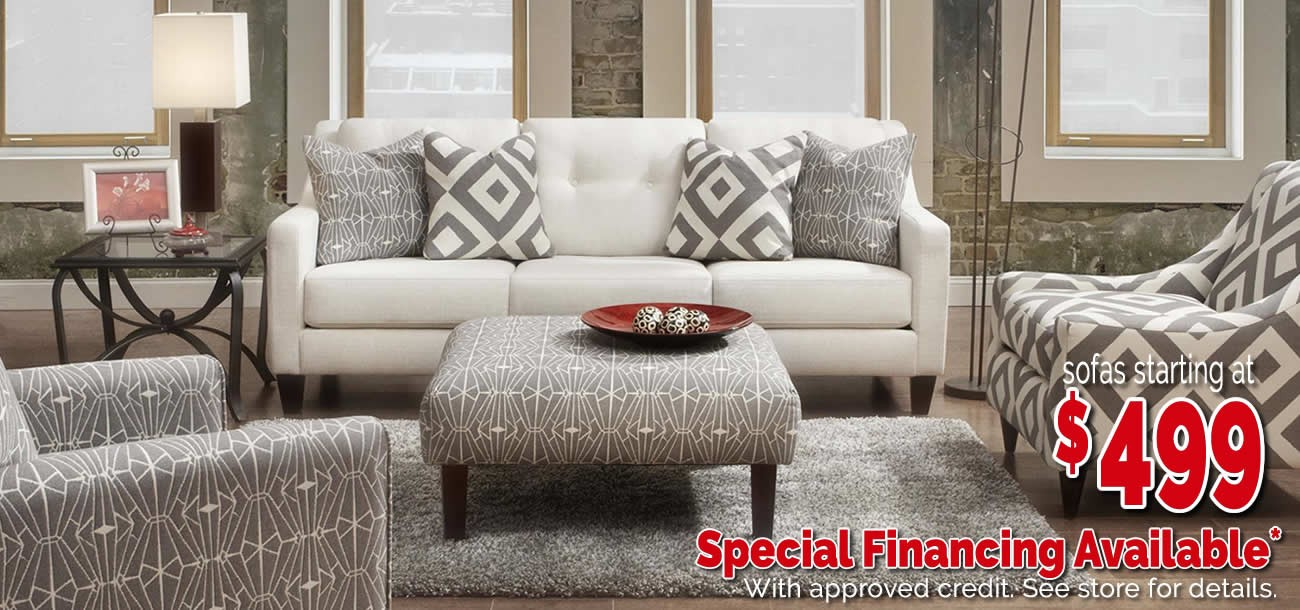 Sofas by Fusion starting at $499